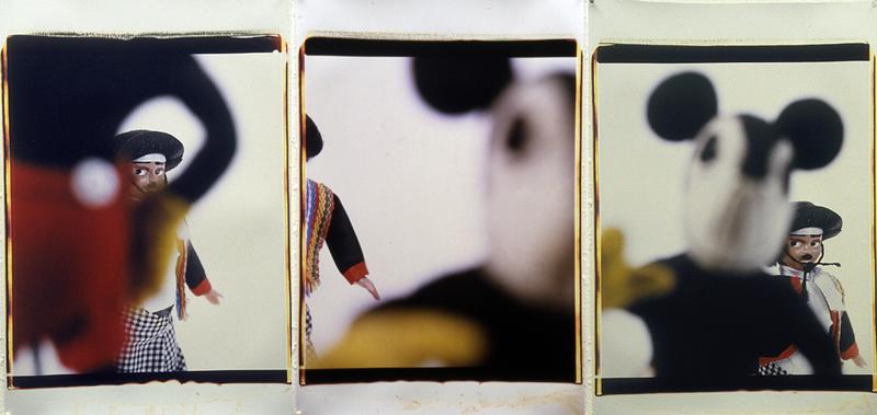 Yellow glove 01 triptych