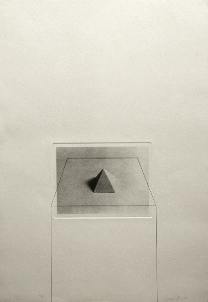 Untitled with pyramid 75