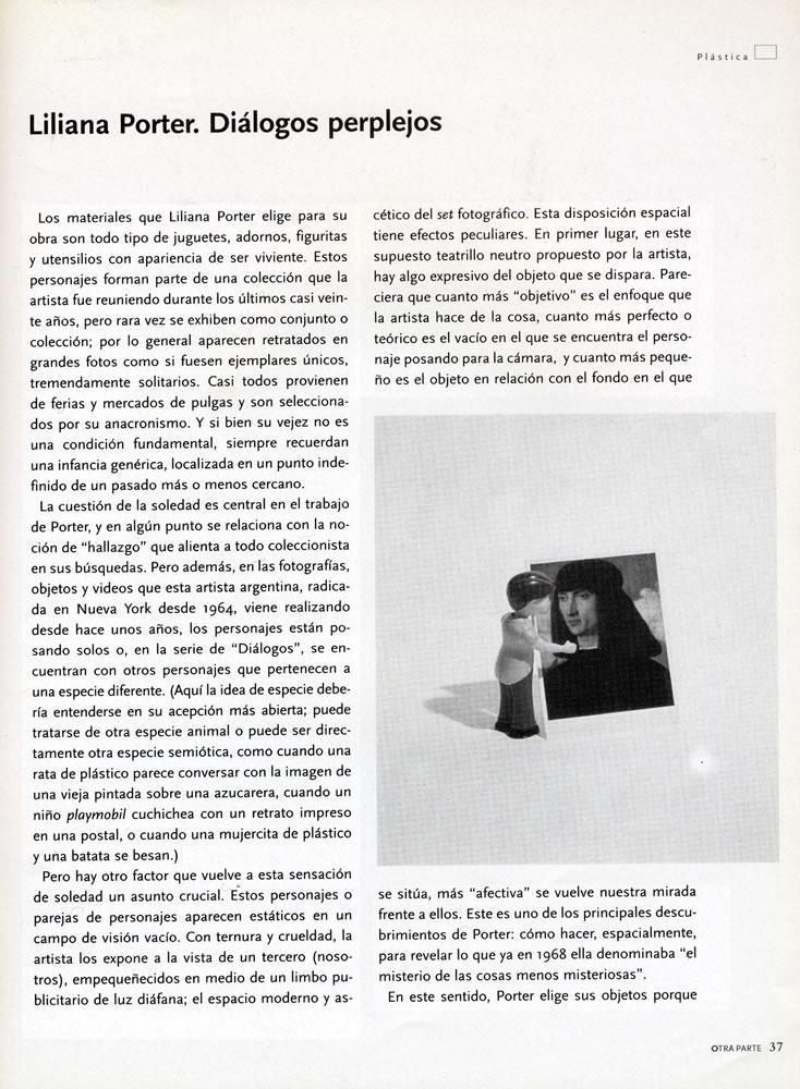 Otra parte  ines katzenstein liliana porter dialogos perple