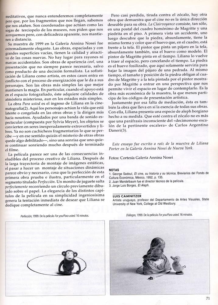 Revista art nexus  liliana porter la poesia de la comun %283%29