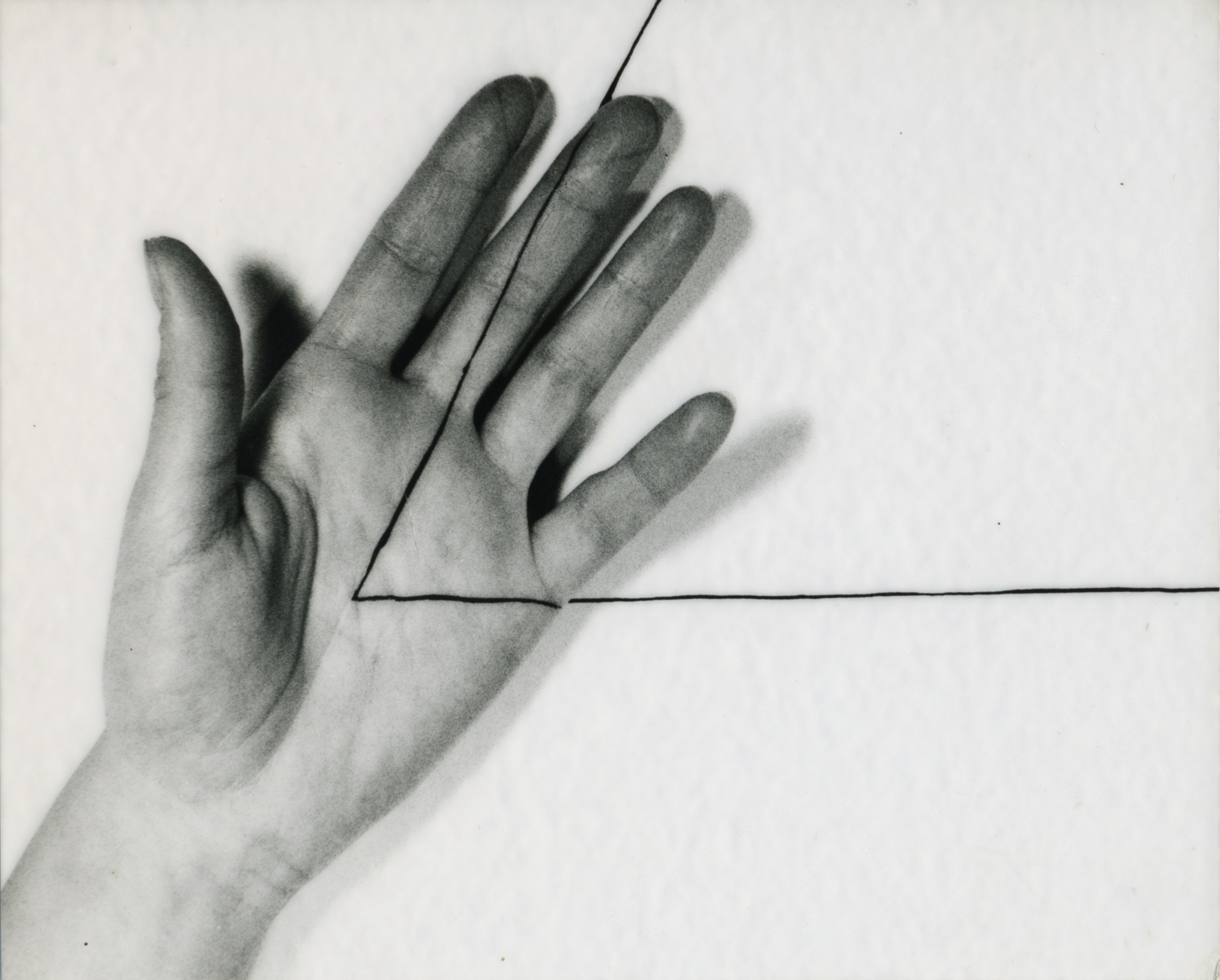 Untitled triangle left hand 1973 vintage copy