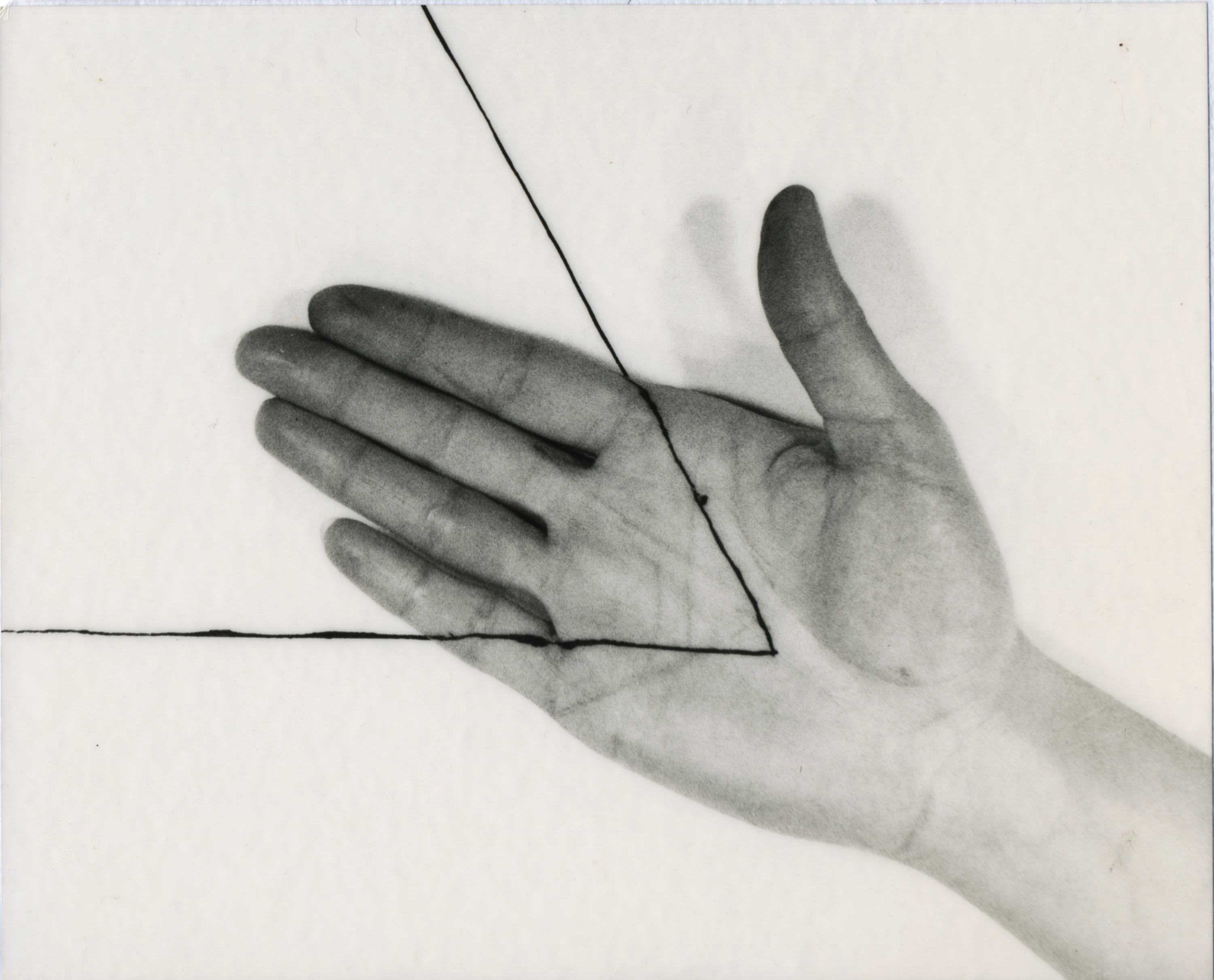 Untitled triangle right hand 1973 vintage copy