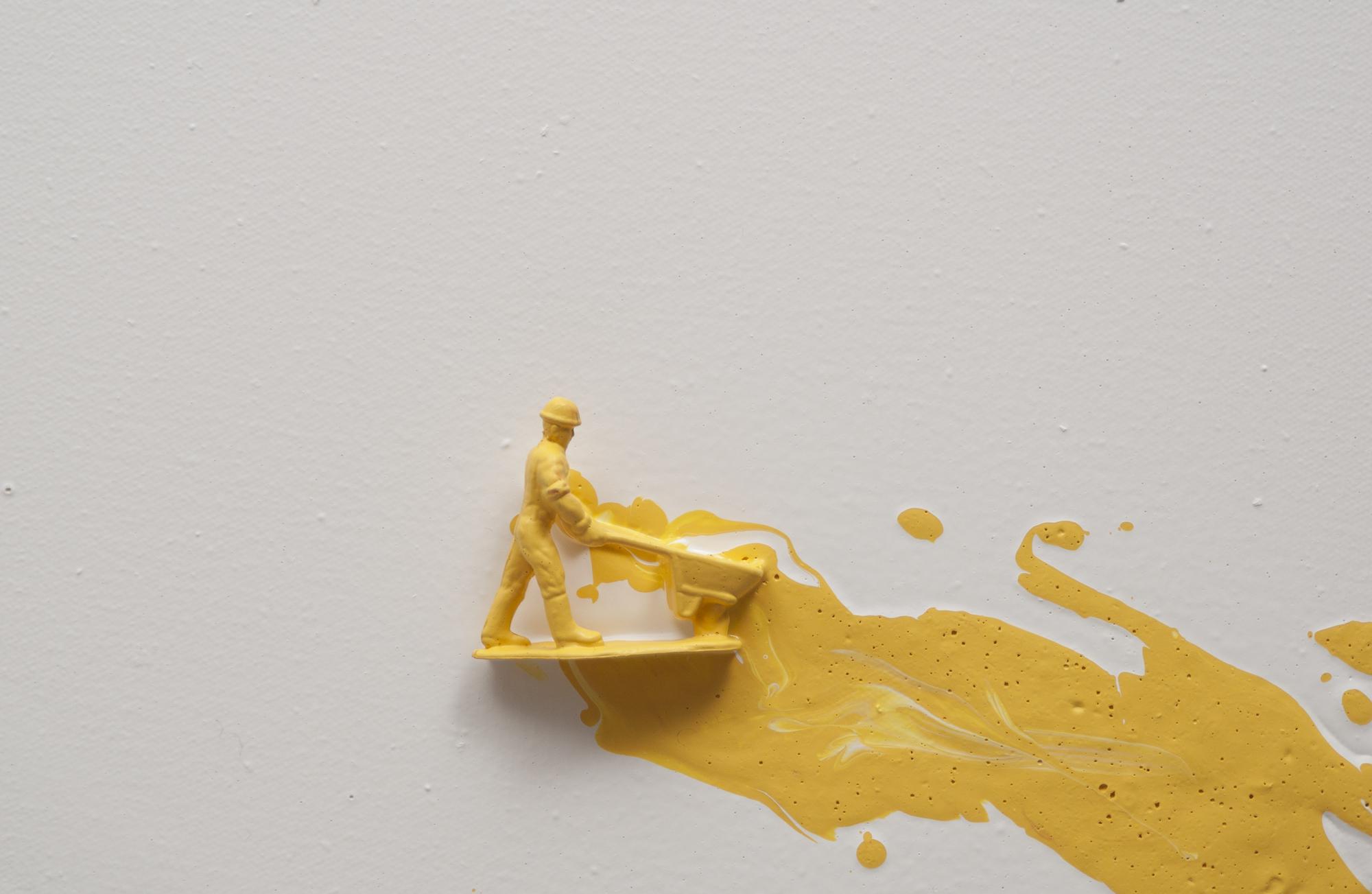 Yellow drips  detail 2016