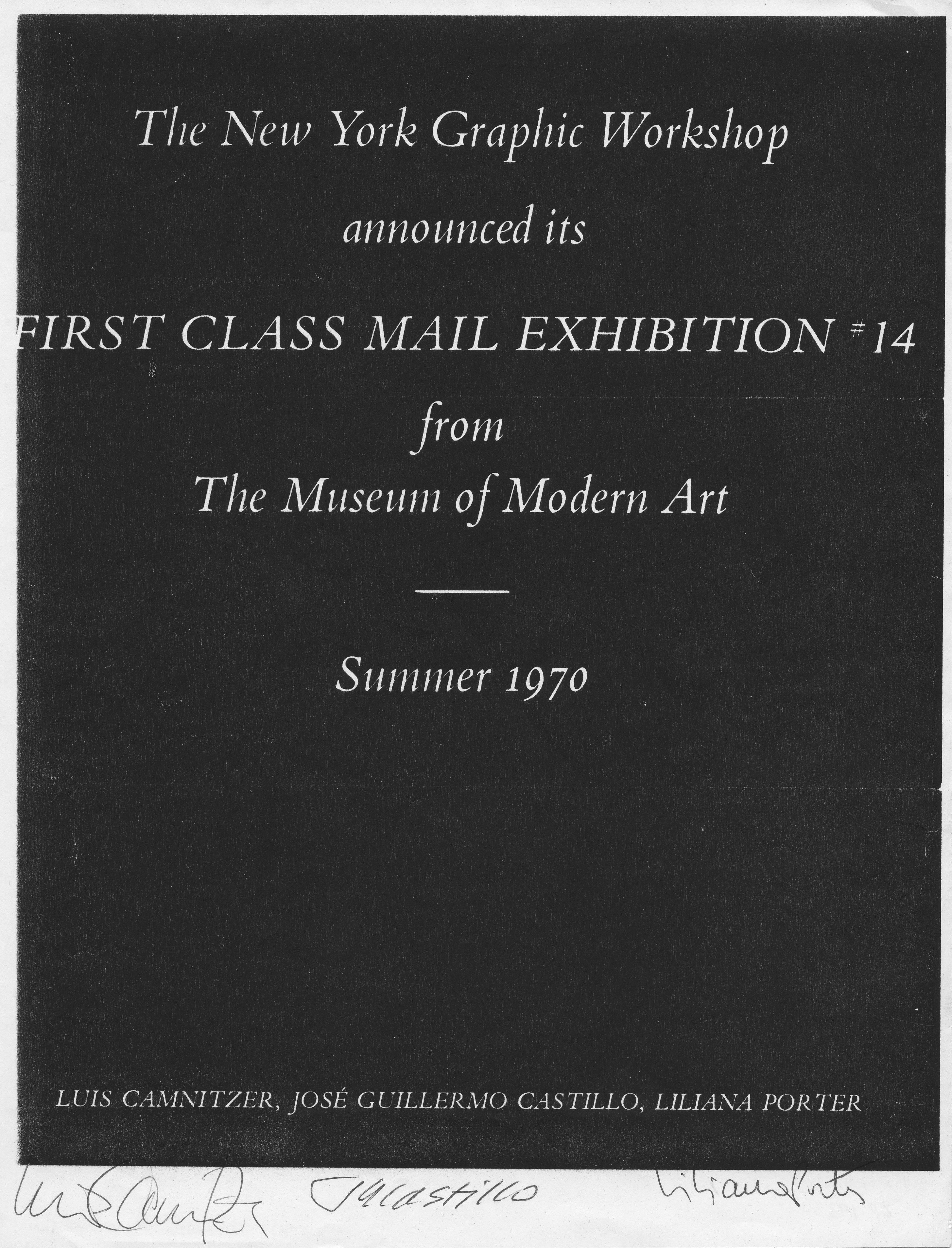Information show announcement moma 70